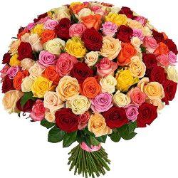 букет 101 роза микс картинка