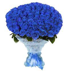 букет 101 синяя роза (крашеная) картинка