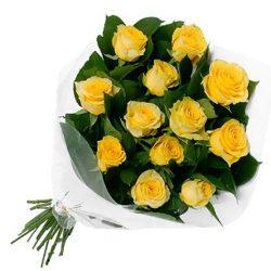 букет 11 желтых роз