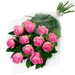 """11 розовых роз """"Аква"""""""