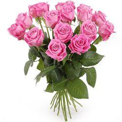 """букет 15 розовых роз """"Аква"""""""