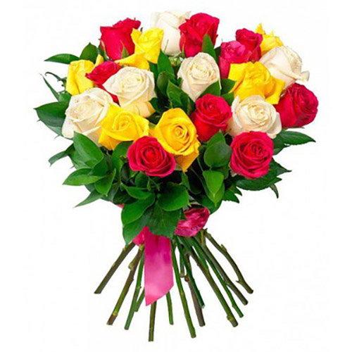 фото букета 21 роза микс