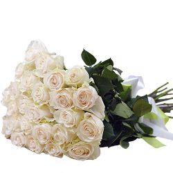 товар 25 белых роз