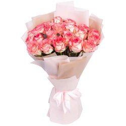"картинка элитная роза 25 роз ""Джумилия"""