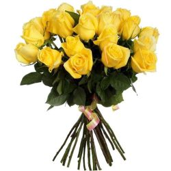 товар 25 желтых роз