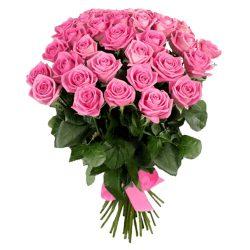 """фото букета 25 роз """"Аква"""""""