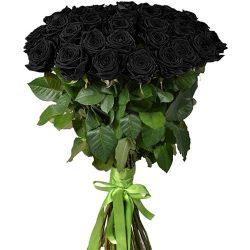 картинка 25 черных роз