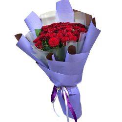 букет 33 красные розы