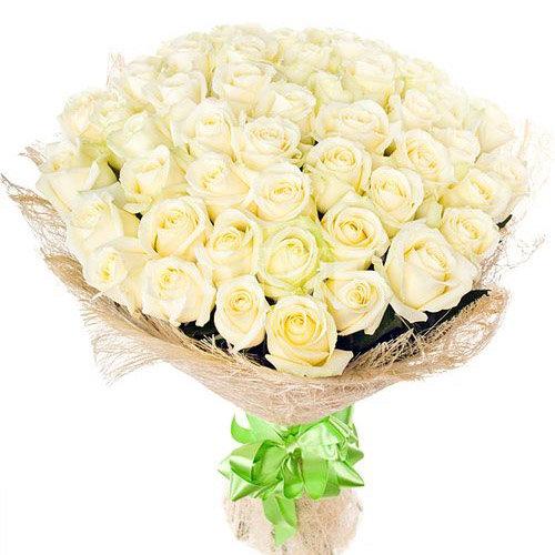 фото букета 51 белая роза
