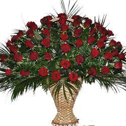 товар Живые похоронные цветы розы
