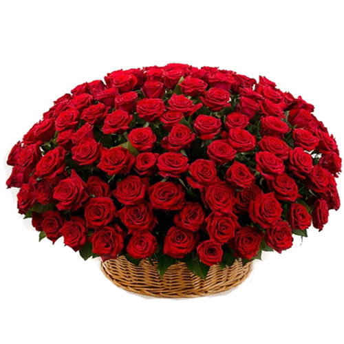 фото товара Корзина 101 красная роза