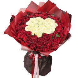 фото букета 151 роза сердце