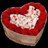 """Коробочка """"Сладкое сердце"""" розы и рафаэлло"""
