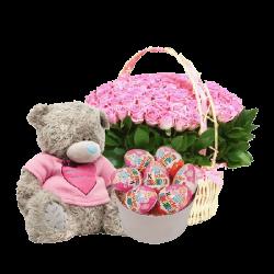Для маленькой розы, киндеры и мягкая игрушка